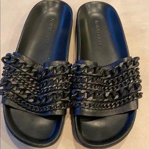 Kendall + Kyle black sandal slides platform 37,5